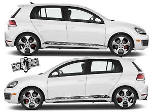 Details About Vw Golf 3 4 5 6 7 Auto Seitenstreifen Aufkleber Grafik Racing Line Aufkleber
