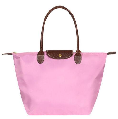 Women/'s Nylon WaterProof Handbag Synthetic Leather Handle Tote Shopping Bag