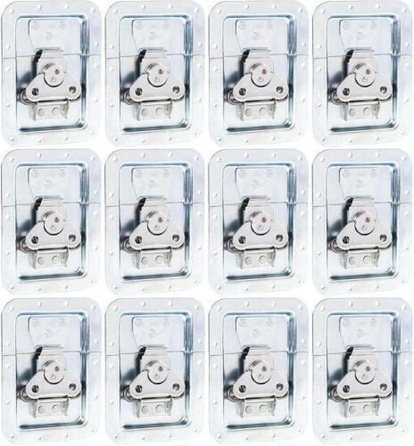 12x Butterfly Verschluss gross 127x172mm in 14mm Einbauschale Schloss ungekröpft