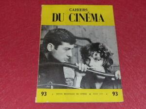 REVUE-LES-CAHIERS-DU-CINEMA-N-93-MARS-1959-VISCONTI-Entretien-EO-1rst-Print