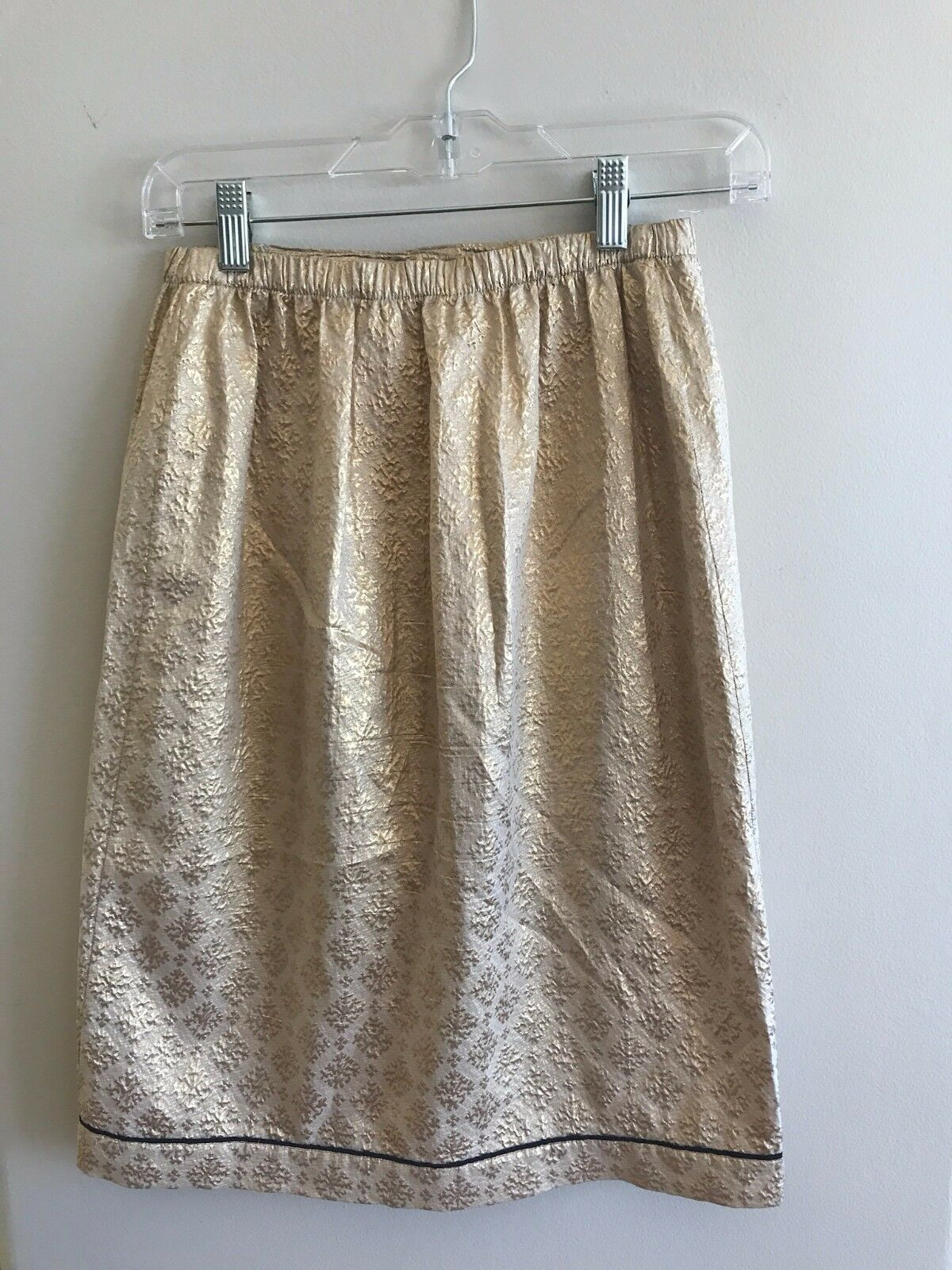 Prada gold Intricately Adorned Lightweight Evening Silk Skirt