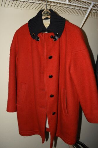 Vintage 60's Wool Red/Black Women's Hudson Bay Coa