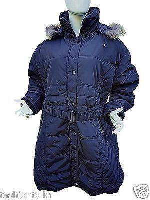 Logico Manteau Doudoune Mi Longue Taille 46/56 Femme Grande Taille Capuche C-1607 Vendita Calda 50-70% Di Sconto