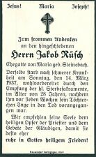 Sterbebild Jakob Rüsch 1937 - 1965 Neuwied