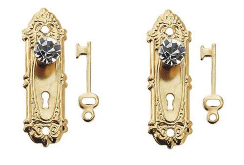 1:12 scale Hardware Crystal Opryland Doorknob w//Plate /& Key