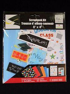 Me-amp-My-Big-Ideas-Graduation-Scrapbook-Kit-Size-8x8-in-NEW