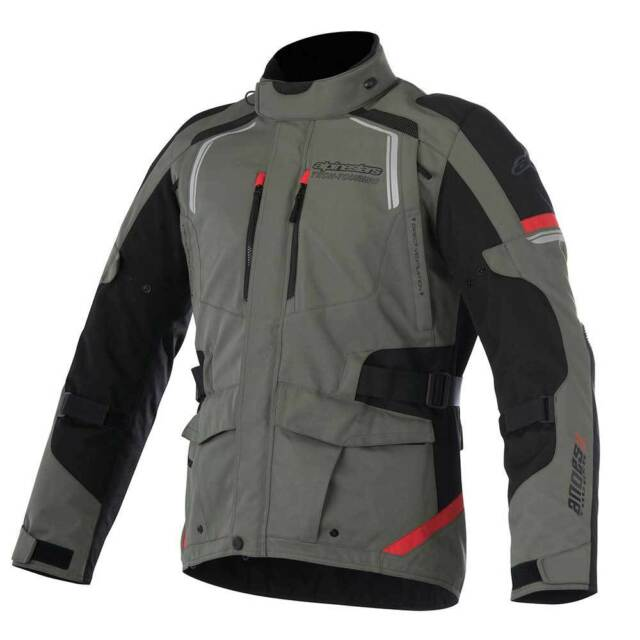 Alpinestars Ande Drystar V2 Giacca Moto Verde Militare/Rosso