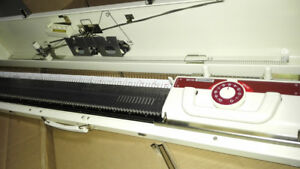 BROTHER Machine à Tricoter Chunky volumineux 9 mm Gauge KH230 KR-230 double Aiguilles x 10