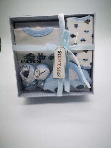 Baby Shower Boy /& Girl // Newborn Baby Gift Set 4 Piece Box by Kris X Kids