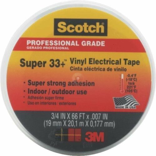 """3//4/"""" X 66/' SCOTCH VINYL PLASTIC ELECTRICAL TAPE WITH DISPENSER FREE SHIPPING"""