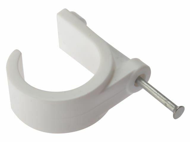 ForgeFix - Clip de tubo con clavo de mampostería 28mm Box 100
