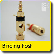 (2x) Amplifier /Speaker Binding Posts 4mm - Banana Plug Spade Socket (BI101) OPS