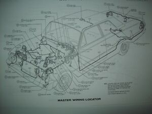1969 Ford Falcon Wiring Diagram All Models And Options Including Wagons Ebay