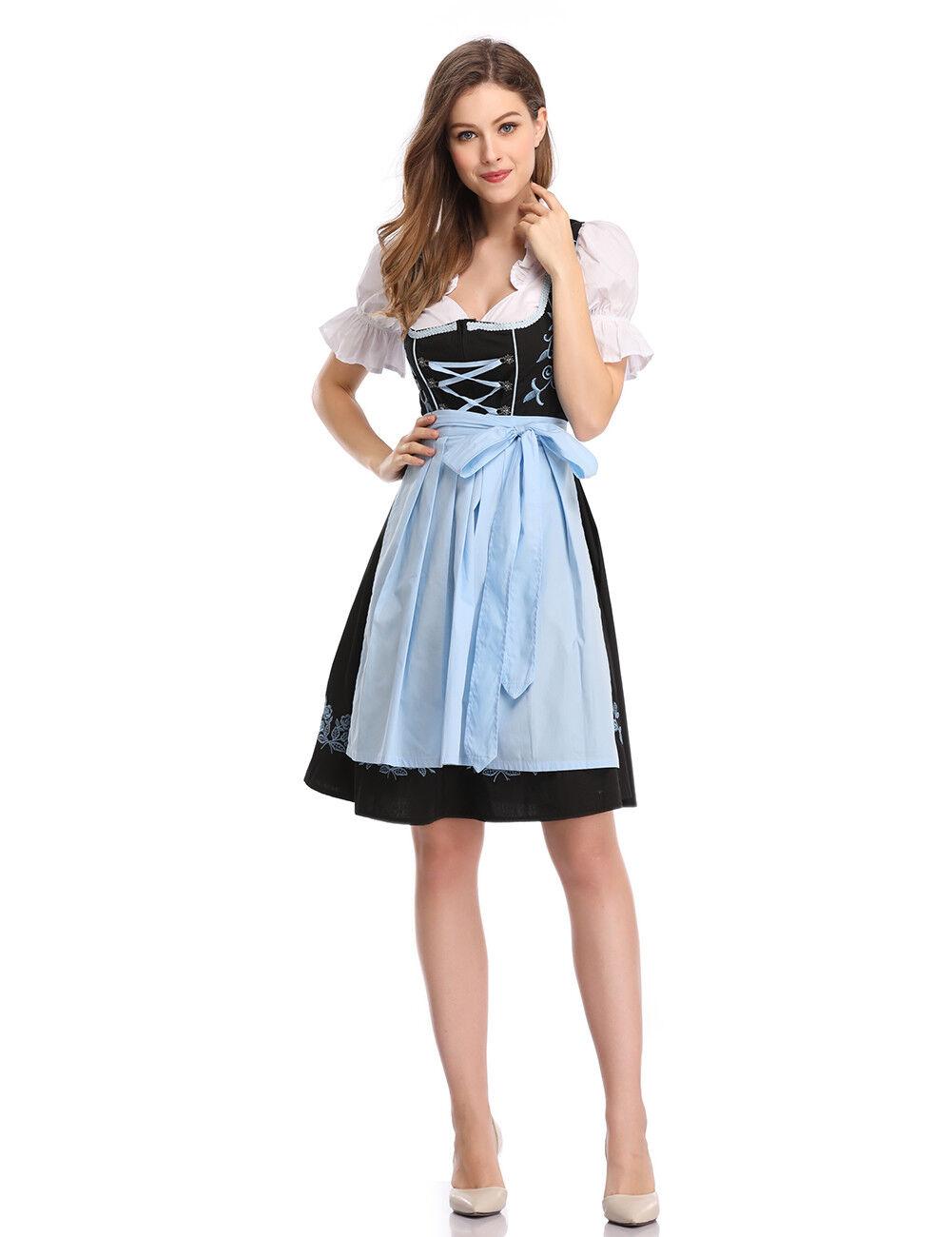Damen Damen Damen Dirndl Wiesn Outfit Oktoberfest Kostüm Minikleid Karneval Tracht NEU 34-42 | Gewinnen Sie hoch geschätzt  | Elegantes Aussehen  | Moderne Technologie  04ae15