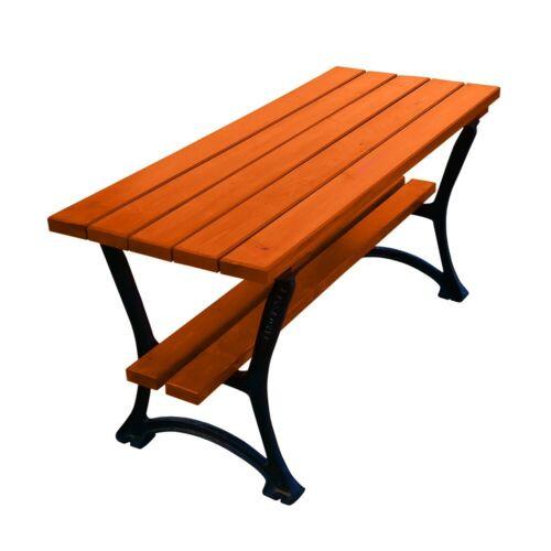 GARTENTISCH HOLZ GUSSEISEN Holztisch Tisch Terrasse Outdoor Esstisch 150//180 3//4