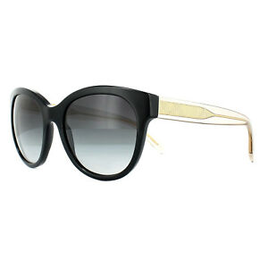 0e84db14290820 Burberry Sunglasses BE4187 35078G Black Gold Clear Grey Gradient   eBay
