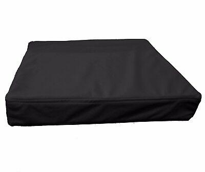 pb308t Cream Faux Leather Skin 3D Box Square Sofa Seat Cushion Cover*Custom Size
