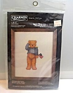 Janlynn-Charmin-Counted-Cross-Stitch-Kit-America-40-12-Size-8-034-x-10-034-New-In-Pk