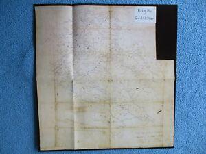 Civil-War-Map-Pocket-Map-of-Confederate-Cavalry-General-J-E-B-Stuart-FEW-LEFT