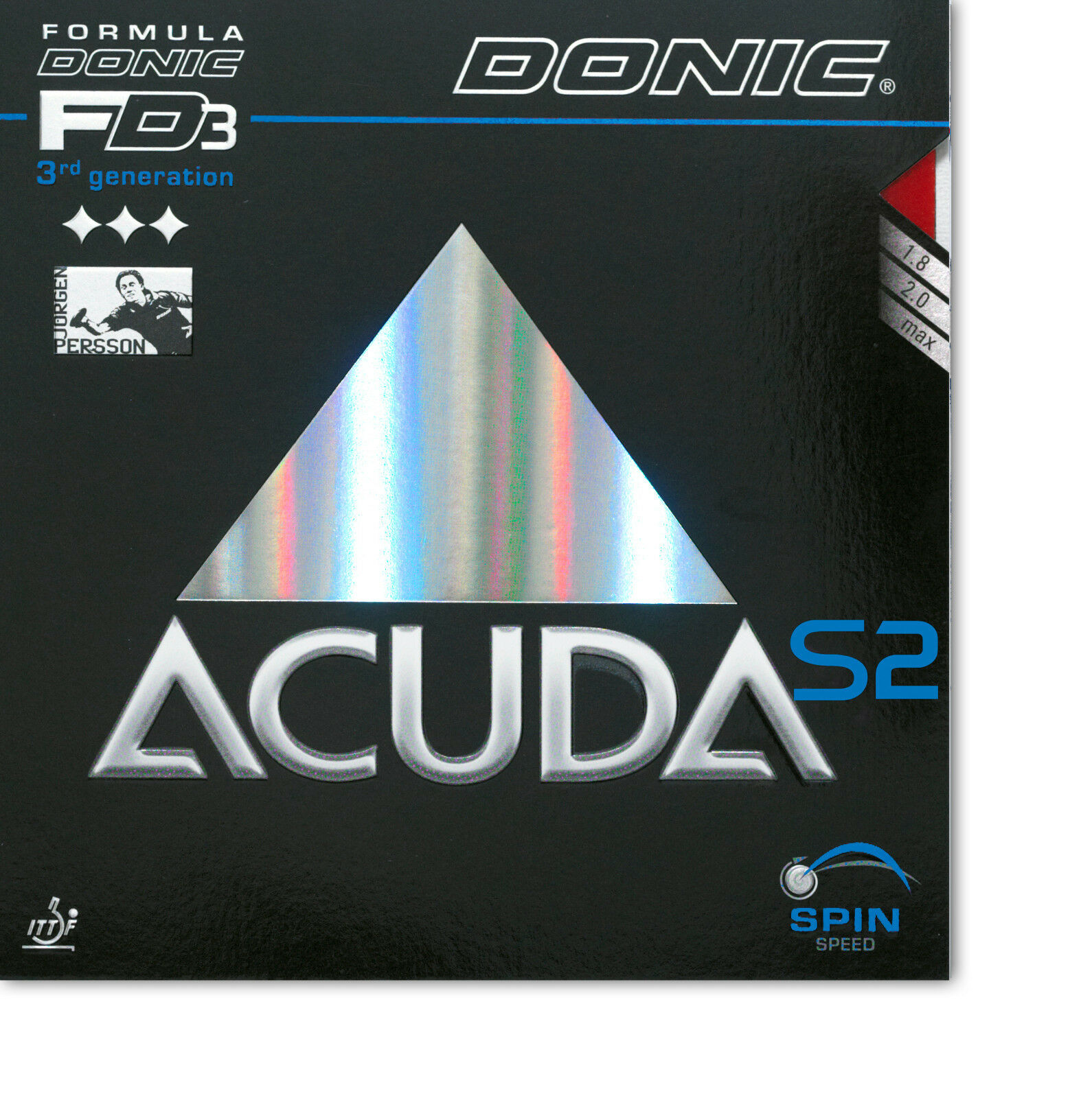 DONIC Acuda S2 S2 S2 2,0mm schwarz  NEU   OVP 48ef15