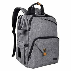 Baby-Diaper-Bag-Backpack-Large-Capacity-Double-Compartment-with-Stroller-Straps