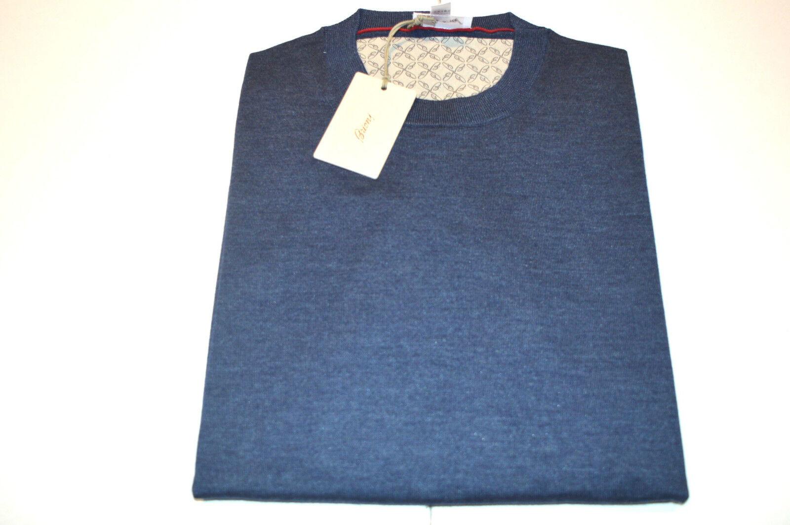 NEW   890,00 BRIONI Blau Sweater 40%Wool 30%Silk 30