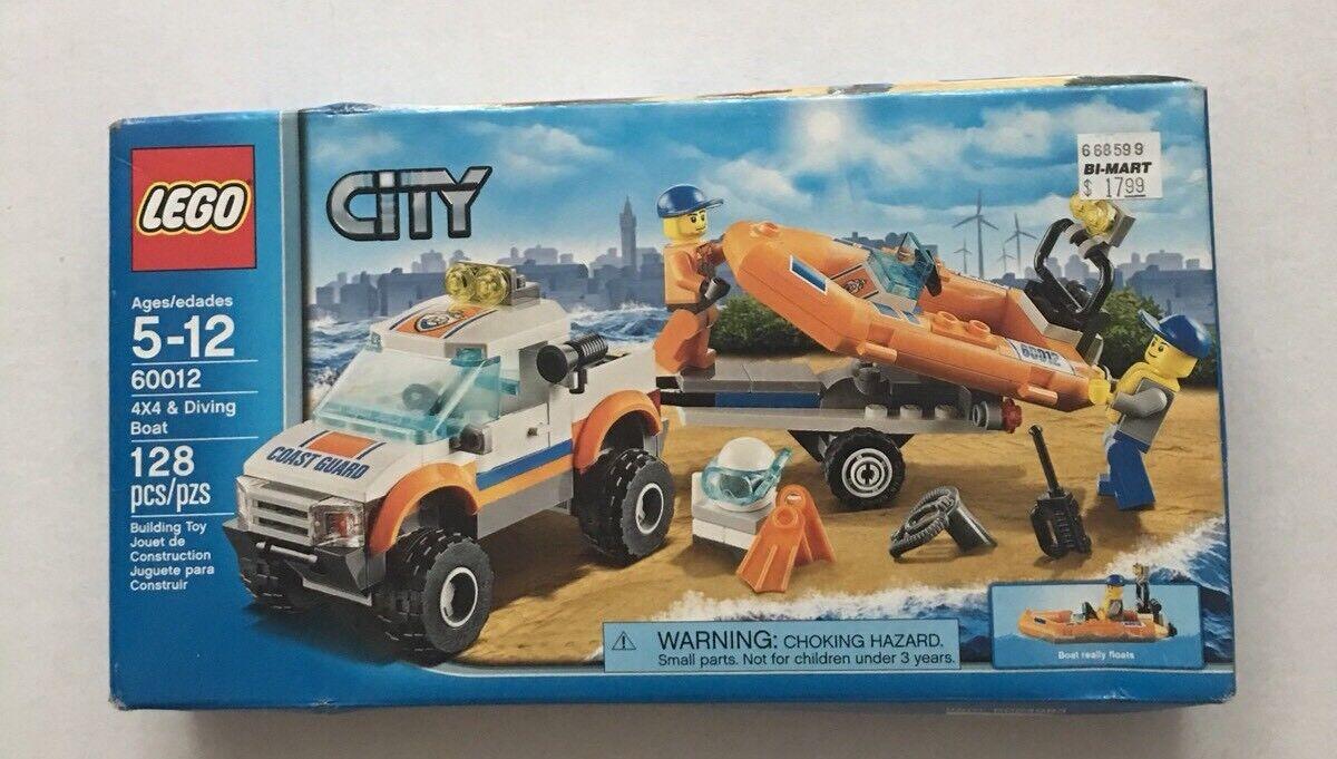 NIB SEALED Lego City 60012 4x4 & Diving Boat