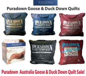 Puradown-Australia-White-Goose-Down-amp-Duck-Down-Range-Doona-Duvet-Quilt