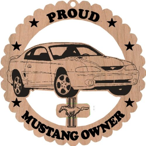 1994-98 Ford Mustang Coupe Wood Ornament Engraved