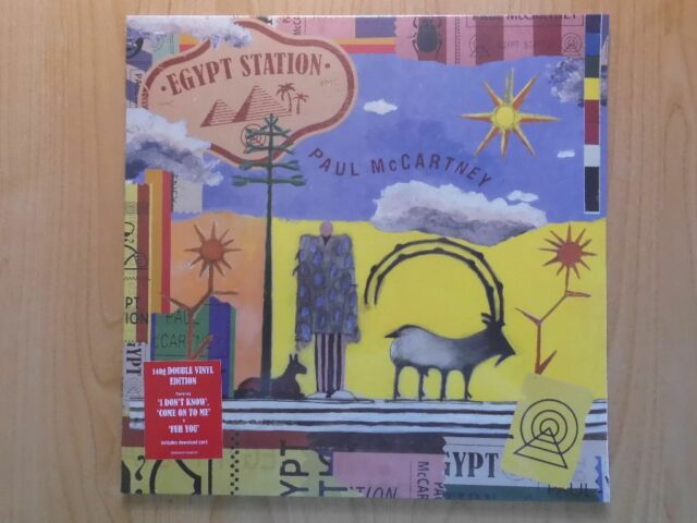 PAUL McCARTNEY 2LP: EGYPT STATION  (2018, NEU; 140GRAM; DOWNLOAD CARD)