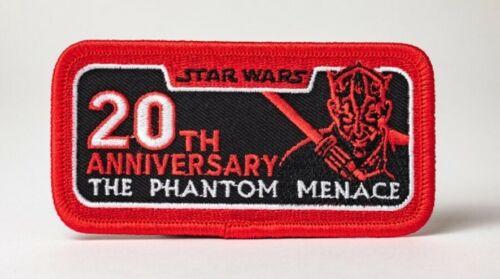 Star Wars Célébration Chicago 20th Anniversary Fantôme Menace Patch Darth Maul