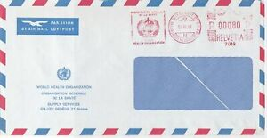 Switzerland commercial 1984 machine cancel air mail stamps cover ref 21577