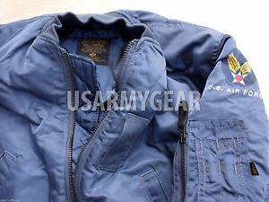 8a63da7577c MADE in USA New MA-1 ALPHA INDUSTRIES PILOT FLIGHT JACKET