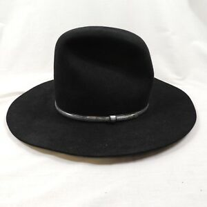 2b406c1abcd71 Image is loading Resistol-Black-Quicksilver-4X-Beaver-Cowboy-Hat-Size-
