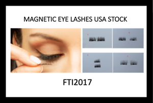 New-Lot-of-100-Sets-Magnetic-False-Eyelashes-Natural-Eye-Lashes-Extension-X100