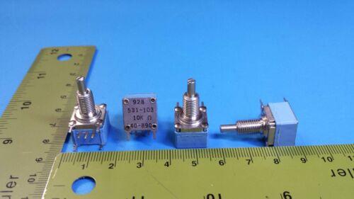 Clarostat 928531-103 Resistor Potentiometer 4Pcs 531-103 Variable 10K Ohm