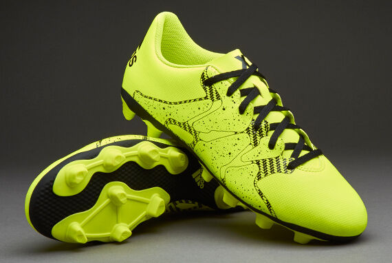adidas X 15.4 FXG Junior Soccer Cleats Size 5y Youth (b32788) Solar Yellow  Black for sale online  07aca5babe353