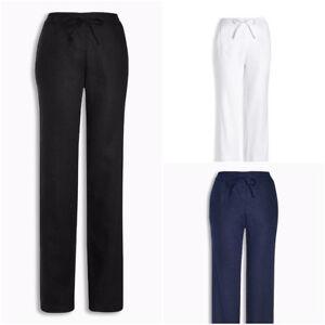 Ex-High-Street-Store-Womens-Parallel-Leg-Linen-Blend-Trousers-Size-6-18-Next-Day
