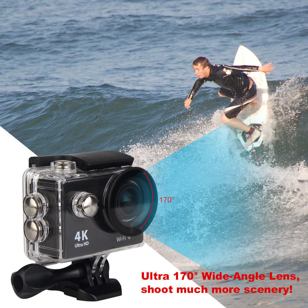 Action Cam 4K WiFi Ultra HD Waterproof Sport Camera 2 Inch LCD Screen 12MP 170° Featured