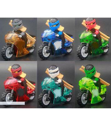 6pcs/lot Crytal Motorcycles Figures Building Blocks Bricks Models Sets Kits Toys Elegant Im Geruch Spielzeug Bauklötze