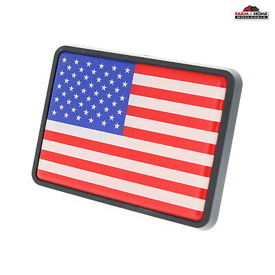 American US Flag Skull USA United States 2 Tow Trailer Hitch Cover Plug