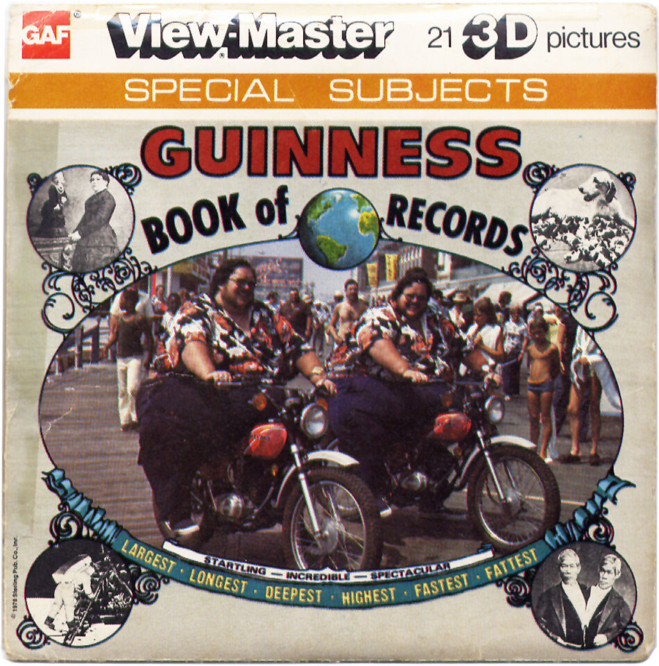 Vintage GUINNESS BOOK of WORLD RECORDS VIEW-MASTER REELS (1978) 3 Disks  BOOKLET