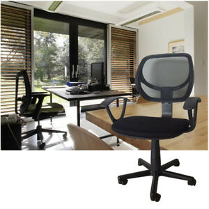 Black-Ergonomic-Mesh-Executive-Swivel-Computer-Desk-Office-Chair-w-Hanger