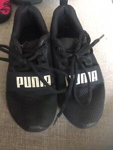 Puma Trainers Black Kids Boys Uk 12 | eBay