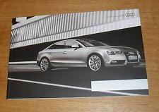 Audi A5 & S5 Brochure 2012 - 1.8 TFSI 2.0 2.7 3.0 TDI Sport S Line Black Edition
