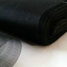 BLACK FILTER FABRIC-NYLON MESH-WATER STRAIN-MOSQUITO-1 m x 300 cm-SLIGHTLY STIFF