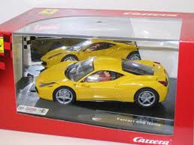 SLOT 1 32 CARRERA EVO FERRARI 458 ITALIEN Gelb