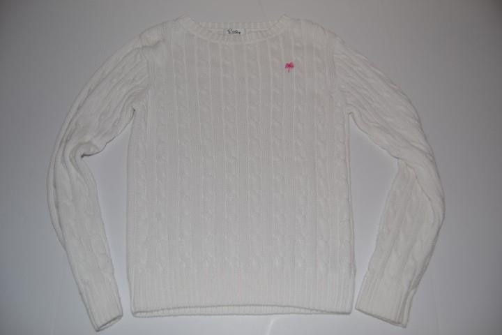 LILLY PULITZER WHITE CORD KNIT STRIPED SWEATER WOMENS SIZE XS