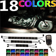 6PC H.D LED Neon Under Glow Lights Strip Kit For ALL Harley Davidson Motorcycles