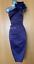Karen-Millen-UK-10-Purple-Satin-Rose-Corsage-One-Shoulder-Wiggle-Cocktail-Dress thumbnail 4